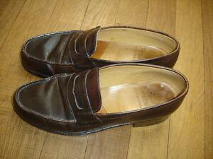 Finsbury-mocassins-marron-fonce-taille-24-CM-interieur-valeur-210-euro-Ref-34