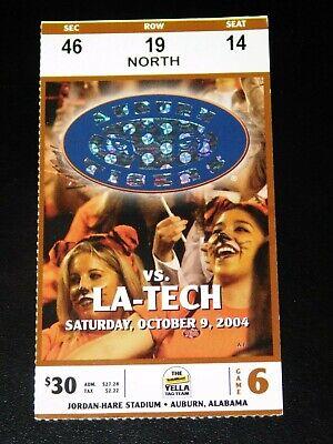 AUBURN TIGERS vs LA TECH BULLDOGS 10/9/2004 FOOTBALL ...