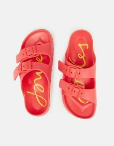 Joules-Womens-Shore-Printed-Footbed-Slider-BRIGHT-RED