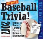 365 Days of Baseball Trivia 2017 Calendar Shouler Kenneth