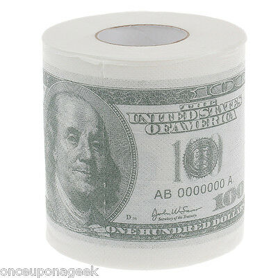 Money Toilet Roll - Dollar Bill Note Toilet Paper