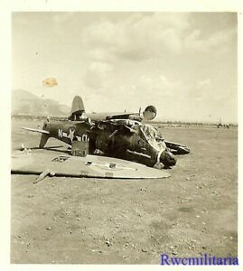 Org-Photo-US-52nd-Fighter-Group-Spitfire-Fighter-Plane-Wreckage-in-Field