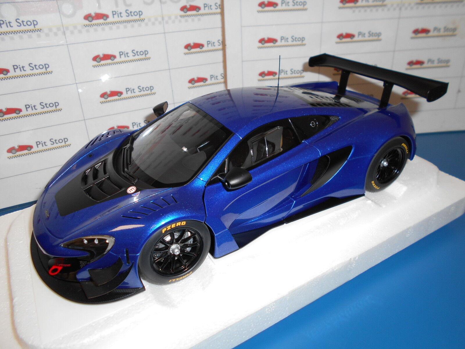 AA8641 av bilkonst MCLAREN 650S GT3 blå MET.1 18