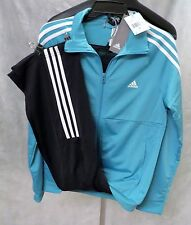 new ADIDAS womens FRIEDA TRACKSUIT blue jacket + pants gym track suit set S