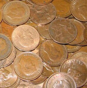 50 Liards En Vrac Lot Of Old English Coins 1900-1956-afficher Le Titre D'origine Qnbagdov-07214307-466234755