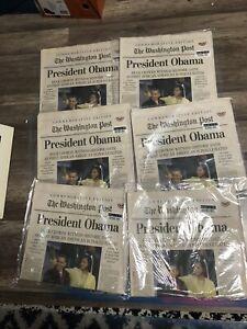 2009 Sealed Washington Post Commemorative Edition President Obama January 21