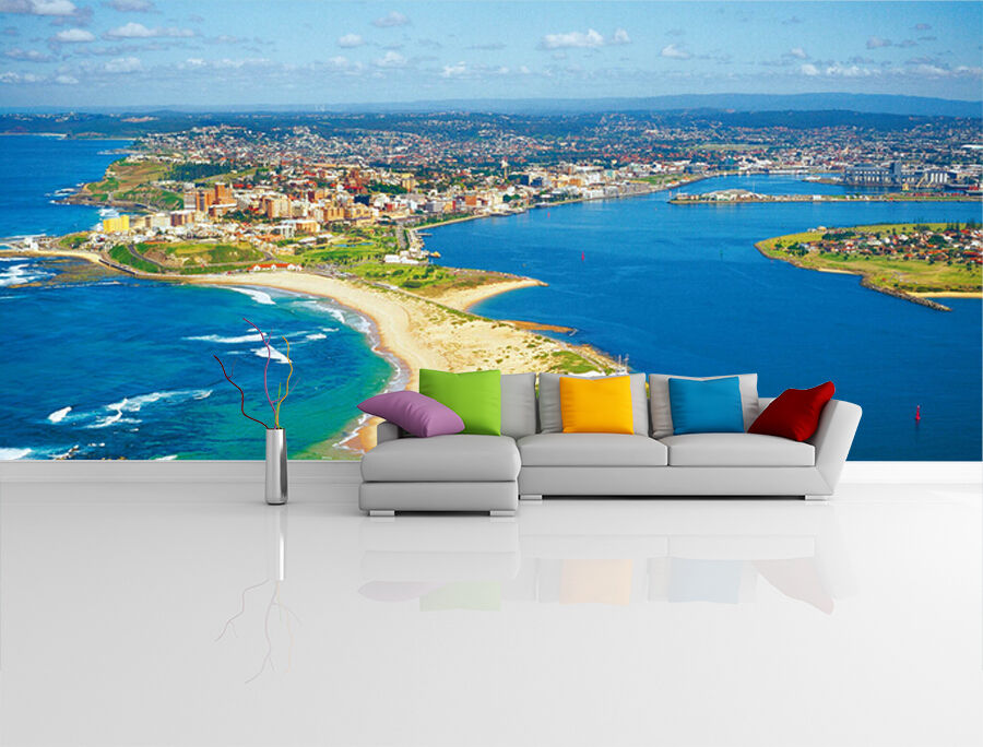 3D Sea Island City  Fototapeten Wandbild Fototapete Bild Tapete Familie Kinder