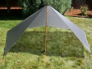 Image is loading Bear-Paw-Wilderness-Designs-5x9-Silnylon-Gray-Tarp- & Bear Paw Wilderness Designs 5x9 Silnylon Gray Tarp/Tent | eBay