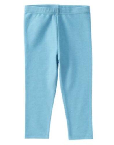 NWT Crazy 8 STYLE ON THE GO Basic Light Blue Faded Denim Look Knit Leggings