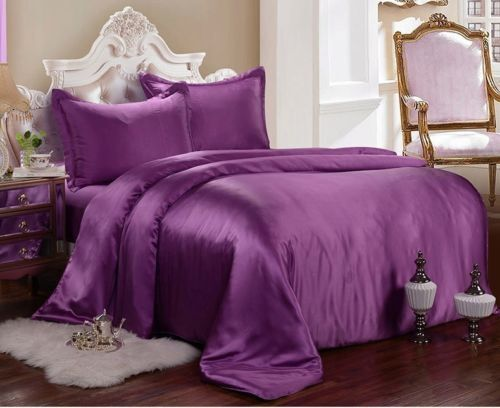 UK SUPER KING SIZE 800 1000 1200 TC 100/%Soft Satin Silk Bedding Hotel Collection