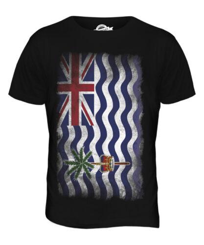 BRITISH INDIAN OCEAN TERRITORY FADED FLAG MENS T-SHIRT TEE TOP GIFT SHIRT