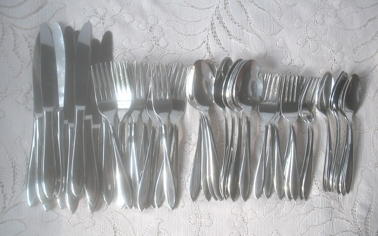 StegorCraft SCULPTURA Stainless Steel Flatware 53 Pieces MADE IN THE USA