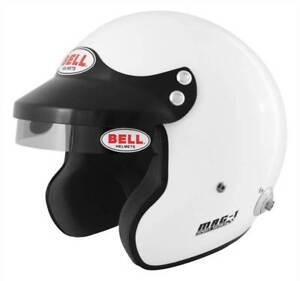Bell-Mag-1-Open-Face-Motorsport-Helmet-HANS-Posts-FIA-8859-2015-Size-S-57-58
