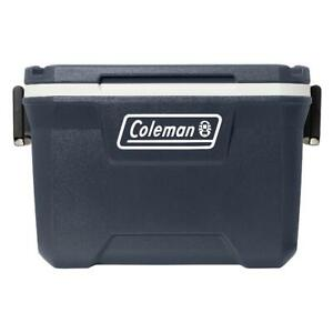 Coleman 316 Series 52 Qt. Capacity Compact Hard Plastic Ice Chest Cooler, Blue