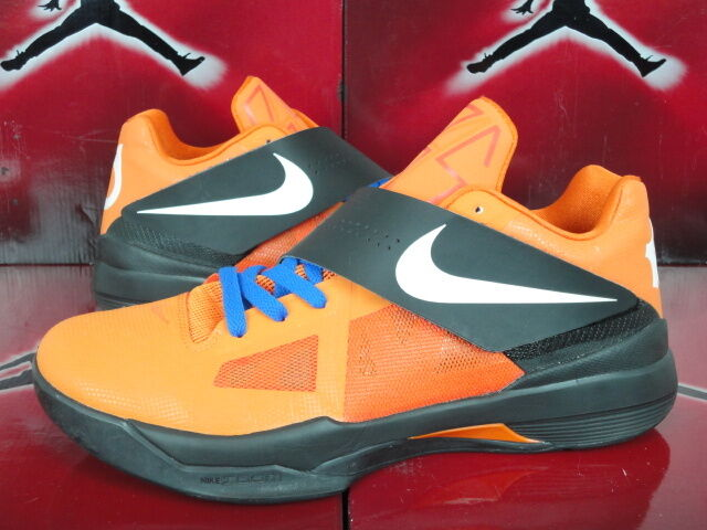 NIKE ZOOM KEVIN DURANT KD IV 4 ID Black Orange Bluek Sz 10 NIKEiD Thunder