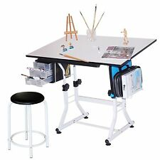 Offex Modern Axiom Artists Drawing Table Charcoal And White Ebay