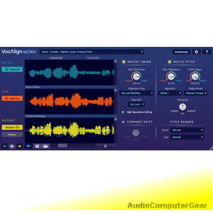 Synchro-Arts-VOCALIGN-ULTRA-Pro-Auto-Align-Time-Pitch-Audio-Software-Plug-in-NEW