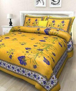 Jaipuri-impresion-100-Algodon-Tradicional-Sabana-con-Colcha-King-Size-Doble