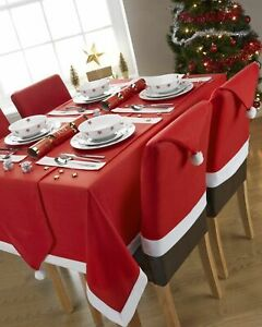 Christmas-Chair-Covers-Tablecloth-Runner-Decoration-Xmas-Dinner-Party-Santa-Gift