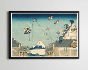 """Cape Mario vs. Super Koopas! - Original POSTER (up to 24"""" x 36"""") - Hokusai - Art"""
