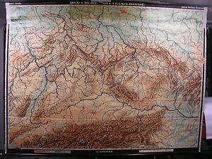 Mittelgebirge Deutschland Karte.Details Zu Schulwandkarte Wandkarte Map Karte 215x161cm Deutsche Mittelgebirge Deutschland