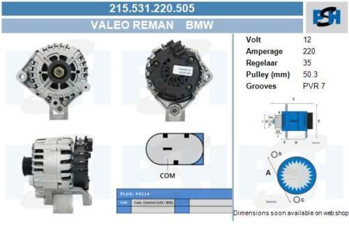 Valeo generalüberholt Lichtmaschine für BMW X5 E70