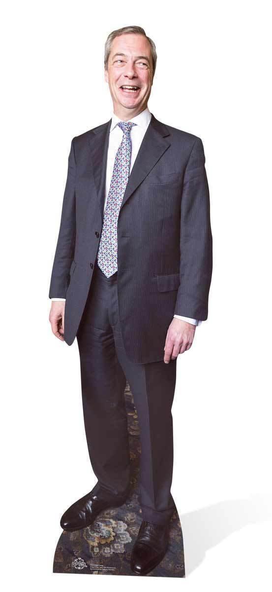 Nigel farage ukip als leader politicien r é elle en karton d é coupé   debout