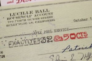 Lucille-Ball-Apex-Pool-Service-1962-Beverly-Hills-Household-Check-765-Lucy-Show