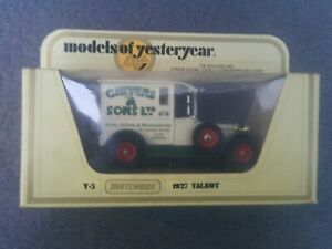 Matchbox-Models-of-Yesteryear-Y-5-1927-Talbot-Beige-Chivers-amp-Sons-Ltd