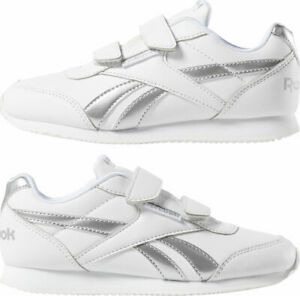 Image is loading Reebok-Girls-Shoes-Classic-Sneaker-Jogger-Kids-Royal- 0a427f86b