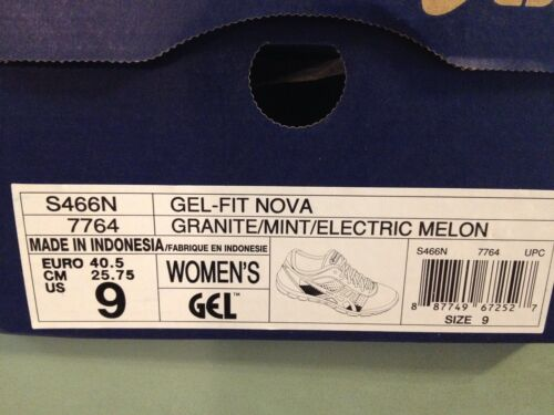S466n corail Gel Chaussure Gris D'entraînement 7764 fit Asics Nova Nib menthe O6IqHB