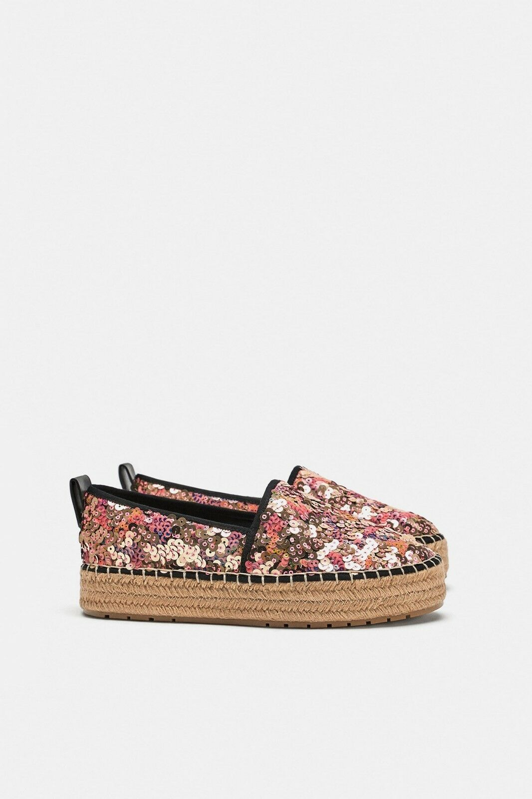 ZARA NEW WOMAN SEQUINNED ESPADRILLES REF. 7500 7500 7500 301 SIZE EUR 41 8c8b7c