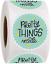 Hecho a mano bastante las cosas dentro Pegatinas gracias etiquetas Redondo Artesanía Regalo 25mm