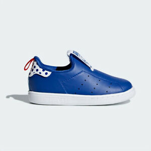 new styles cd182 135e1 Details about Adidas CQ2716 toddler Stan smith 360 I baby shoes kids blue  white