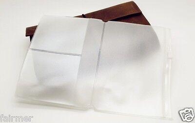 5X4 PVC Plastic Clear Zipper Pocket For Traveler's Note Book Journal Refill