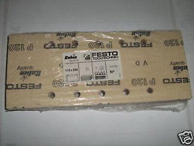 Festo 50 x Schleifblätter für Schwingschleifer 115 x 280 - P120 Schleifpapier