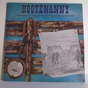 33T-HOOTNANNY-Vinyle-LP-12-034-REFRAINS-BALLADES-FOLKORE-AMERICAIN-Banjo-GID-2438