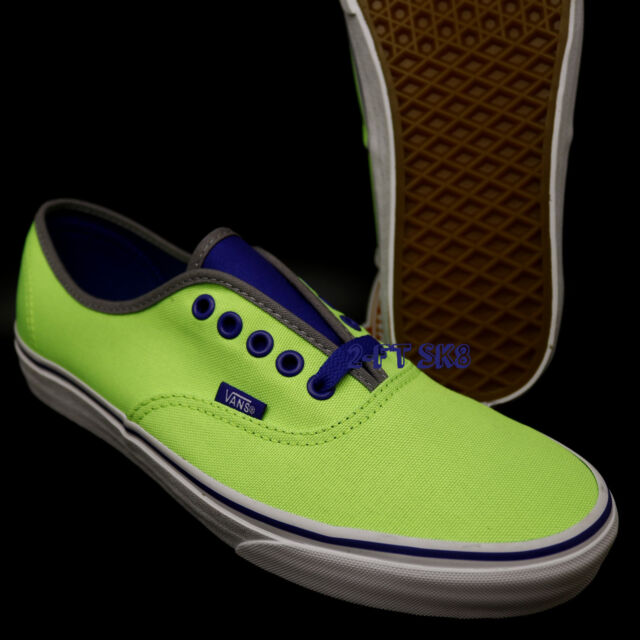 d5a48b0d0deacd VANS Authentic Brite Neon Green Blue MEN S SKATE SHOES  ERA S89108.136