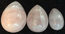 3 Rose Quartz Kegel Eggs Set Exercise Weights Ben Wa Balls USA Shipper