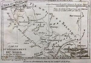 Nord en 1790 Orchies Hazebrouck Bergues Ypres Mons Avesnes Le Cateau Cassel