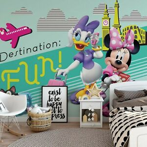 Details zu Disney Wallpaper mural for children\'s bedroom Minnie Mouse and  Daisy photo wall