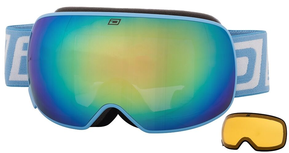 DIRTY DOG MUTANT 2.0 MAGNETIC GOGGLES blueE TWO LENSES ADULT SKI SNOWBOARD 54173