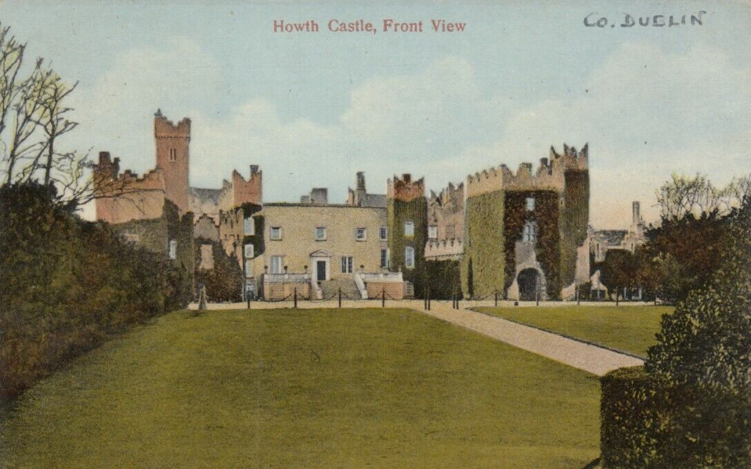howth castle in dublin, ireland, where  Gráinne Mhaol kidnapped the young heir Howth