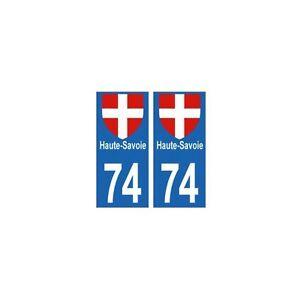 74-Haute-Savoie-autocollant-departement-plaque-sticker-immatriculation-auto-arro