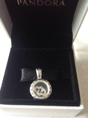 Pandora Floating Locket Small With Petite In Box