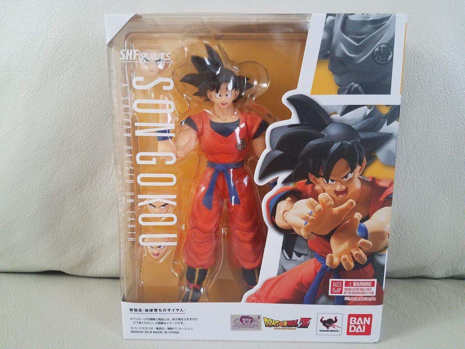 Bandai S.H Figuarts Dragonball Z Son Goku A Saiyan Raised On Earth USA SELLER