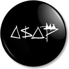 "ASAP (A$AP) MOB 25mm 1"" Pin Button Badge Ferg Rocky Rappers Hip Hop"