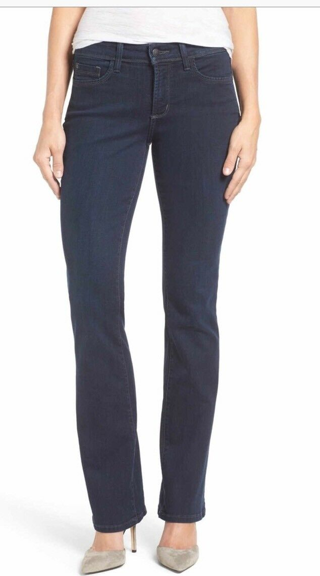 NWT NYDJ NOT YOUR DAUGHTERS JEANS BILLIE STRETCH MINI BOOTCUT JEANS VERDUN 0