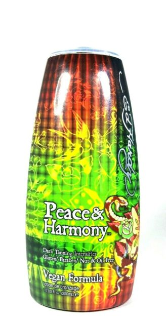 Ed Hardy PEACE AND HARMONY Tanning Intensifier Bronzing Lotion 10 oz