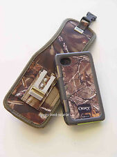 Belt CLip Holster iPhone 4/4S For Otterbox Armor Case With Metal Clip - Camo/Oak